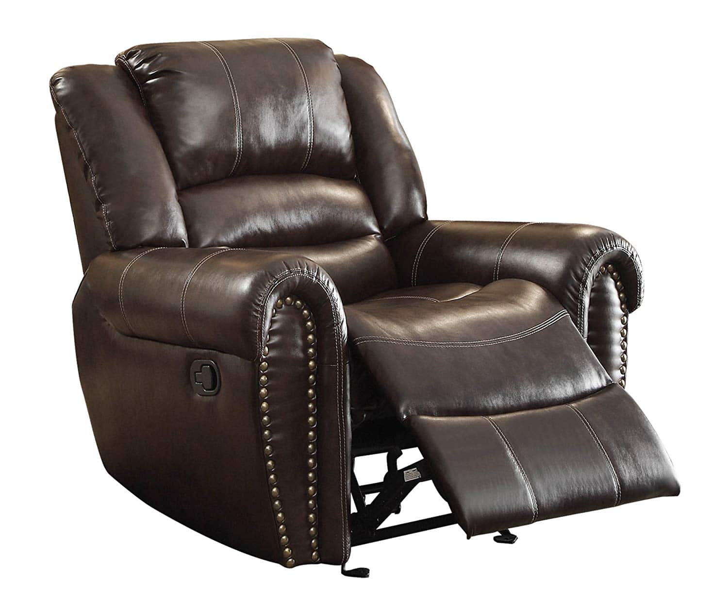 Homelegance 9668BRW-1 Glider Reclining Chair, Brown Bonded Leather